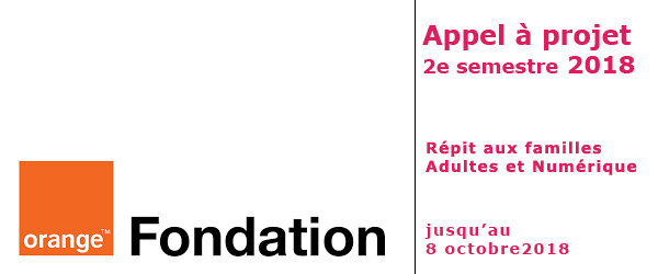 Appel à projet fondation orange - 2e sem. 2018